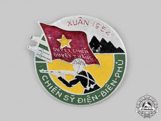 Vietnam, Democratic Republic. A Badge for Participants in the Dien Bien Phu Campaign in the First Indochina War 1954