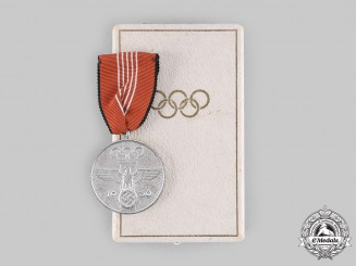 Germany, Third Reich. An Olympics Commemorative Medal, with Case