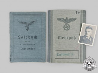 Germany, Luftwaffe. A Soldbuch and Wehrpaß to Dr. Manfred Vukits, MIA over England