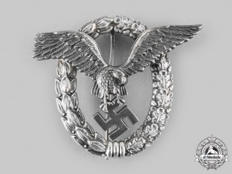 Germany, Luftwaffe. A Rare Pilot's Badge by OM