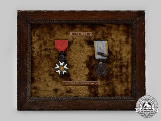 "France, Empire. A Legion of Honor and Crimea Medal to ""Captaine Marty"", c. 1855"