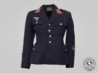 Germany, Luftwaffe. A Flak/Artillery Oberfeldwebel Service Tunic, by Otto Poschmann