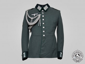 Germany, Heer. A Gebirgsjäger Administration Officer's Dress Tunic, by A. Rost