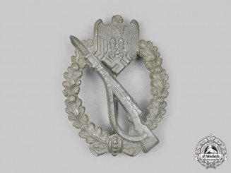 Germany, Wehrmacht. An Infantry Assault Badge, Bronze Grade, by Friedrich Linden