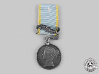 United Kingdom. A Crimea Medal 1854-1856, to William Wallace Vine, Royal Navy