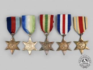 United Kingdom. A Lot of Five Second War Stars