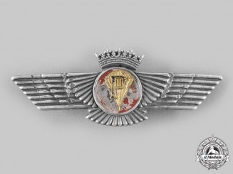 "Spain, Fascist State. An Air Force Parachutist's Qualification Badge, for ""Plegador"", c.1944"