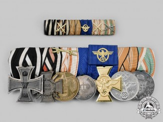Germany, Third Reich. An Extensive Medal and Ribbon Bar Set
