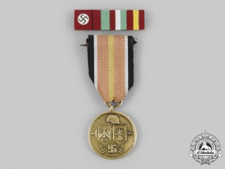 Spain, Fascist State. A Blue Division Commemorative Medal with Ribbon Bar, c.1945