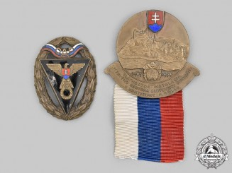 Slovakia, First Republic. A Pair of Commemorative Badges