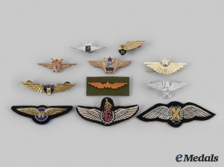 Belgium, Hungary, Kenya, Mexico, Netherlands, Russia, South Africa, Switzerland, Zimbabwe. Lot of Eleven African and European Air Force Badges