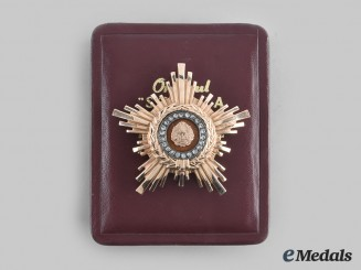 Romania, Republic. An Order of the Star of the People, Type II, II Class in Gold and Diamonds, c.1960