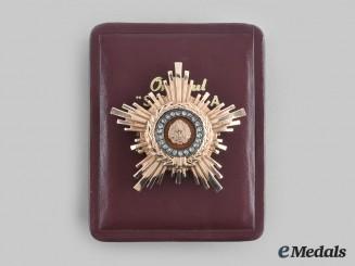 Romania, Republic. An Order of the Star of the People, Type II, II Class in Gold and Diamonds, c.1960