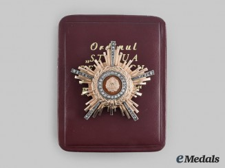 Romania, Republic. An Order of the Star of the People, Type II, I Class in Gold and Diamonds