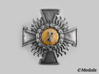 Latvia, Republic. A Firefighter 10 Year Service Badge, W.F. Muller