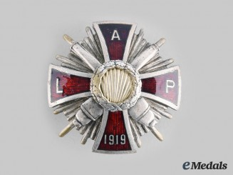 Latvia, Republic. A Latgale Artilerijas Pulks (Latgale Artillery Regiment) Badge, by A. Ratfelders