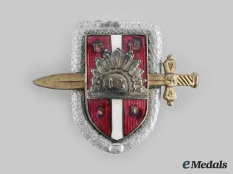 Latvia, Republic. An Army Regimental Badge, c.1919