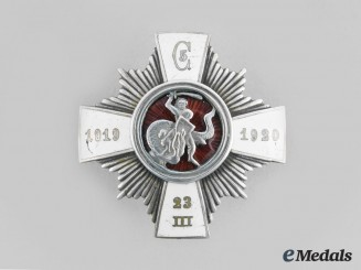 Latvia, Republic. A 5th Cesis Infantry Regiment Badge, by S.Bercs, c.1925