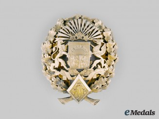 Latvia, Republic. A Military Badge to Colonel G. Kikuls, by V.F. Millers