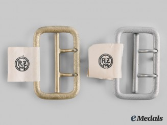 Germany, NSDAP. A Pair of Political Leaders' Belt Buckles