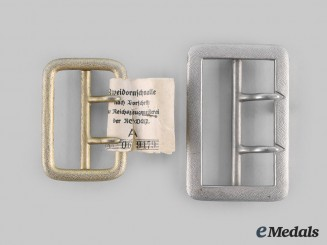 Germany, NSDAP. A Pair of Political Leader Belt Buckles