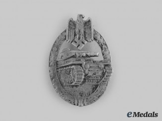 Germany, Wehrmacht. A Panzer Assault Badge, Silver Grade, by Hermann Aurich
