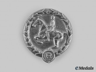 Germany, Third Reich. A German Youth Equestrian Badge, by Karl Wurster