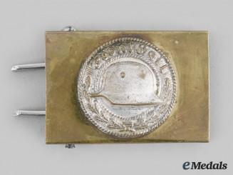 Germany, Der Stahlhelm. A Stahlhelm Personnel Belt Buckle, Reduced Size