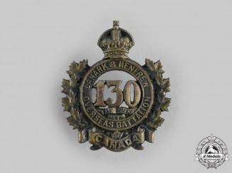 "Canada, CEF. A 130th Infantry Battalion ""Lanark and Renfrew Battalion"" Cap Badge"