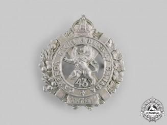 "Canada, CEF. A 43rd Infantry Battalion ""Cameron Highlanders"" Cap Badge"