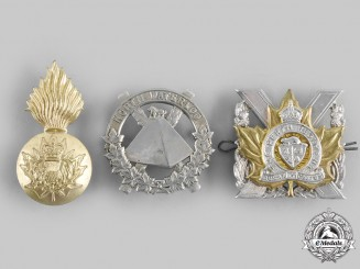 Canada. Three Ontario-Based Regiments Glengarry Badges