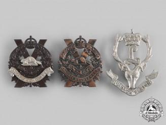 Canada. Three Western Canada-Based Regiments Glengarry Badges