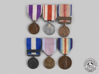 Japan, Empire. A Lot of Six Medals & Awards