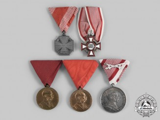 Austria, Empire. A Lot of Five Awards & Decorations