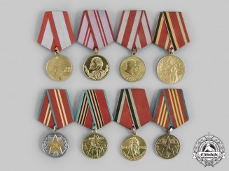 Russia, Soviet Union. A Lot of Eight Commemorative Medals