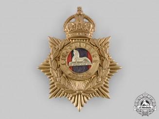 United Kingdom. A Lincolnshire Regiment Shako Plate, c.1910
