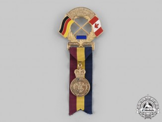 Canada, Germany. A 11th International People's March at Baden-Soellingen with PPCLI Badge 1987