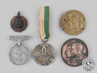 Canada, Commonwealth. Lot of Five Shooting Awards Medals