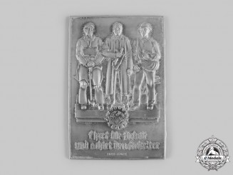 Germany, DAF. A German Labour Front Plaque, by Ferdinand Wagner