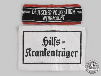 Germany, Wehrmacht. A Pair of Auxiliary Armbands