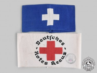 Germany, Third Reich. A Pair of Medical Personnel Armbands
