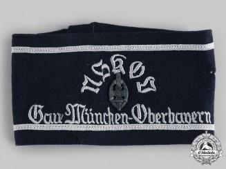 Germany, NSKOV. A National Socialist War Victim's Care Gau München-Oberbayern Armband