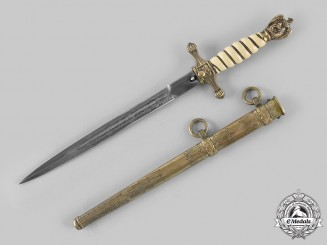 Germany, Kriegsmarine. A Kriegsmarine Officer's Dress Dagger by Carl Eickhorn