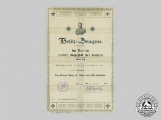 Germany, Imperial. A 1914 Iron Cross II Class Document to Musketier Karl Knudel