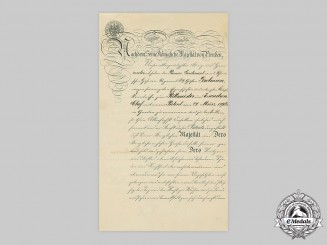 Germany, Imperial. A Promotion Certificate to Cavalry Captain and Squadron Leader Grolman 1890