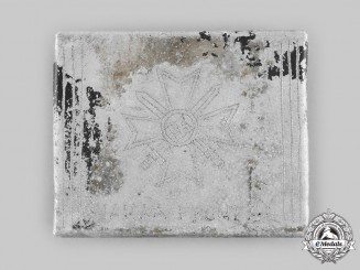 Germany, Wehrmacht. A Battle of Narva Trench Art Cigarette Case 1944