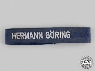 "Germany, Luftwaffe. A 1st Fallschirm-Panzer Division ""Hermann Göring"" EM/NCO's Cuff Title"