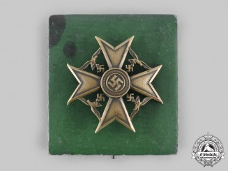 Germany, Wehrmacht. A Spanish Cross, Bronze Grade with Case, by C.E. Juncker