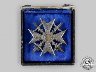 Germany, Wehrmacht. A Spanish Cross, Silver Grade with Swords, by C.E. Juncker