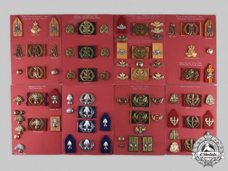Netherlands, Kingdom. Lot of 81 Army Insignia, c. 1947-2000